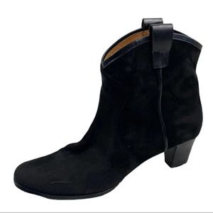 Array Black Suede Ankle Boots